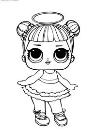 ЛОЛ серия 2 куколка Сахарок - скачать и распечатать раскраску. Раскраска лол