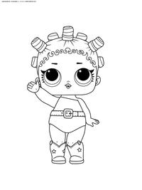 ЛОЛ серия 1 Космическая королева - скачать и распечатать раскраску. Раскраска лол