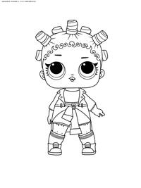 ЛОЛ серия 1 куколка Fresh - скачать и распечатать раскраску. Раскраска лол