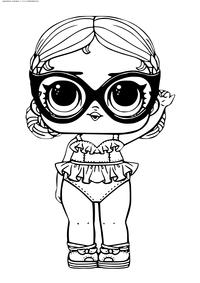 ЛОЛ Vacay Babay конфетти поп (Леди Релакс) - скачать и распечатать раскраску. Раскраска лол