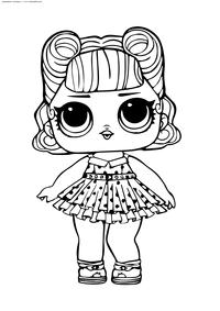ЛОЛ серия 2 куколка Jitterbug - скачать и распечатать раскраску. Раскраска лол