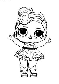 ЛОЛ Luxe серия 2 (Леди Золото) - скачать и распечатать раскраску. Раскраска лол