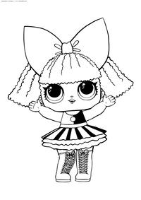 ЛОЛ серия 2 куколка Pranksta - скачать и распечатать раскраску. Раскраска лол