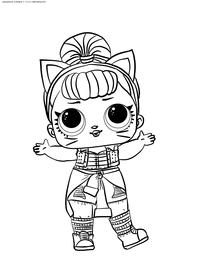 ЛОЛ серия 2 куколка Troublemaker - скачать и распечатать раскраску. Раскраска лол