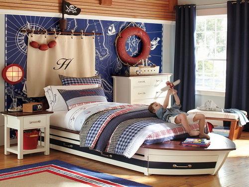 Морская тема в оформлении интерьера детской комнаты
