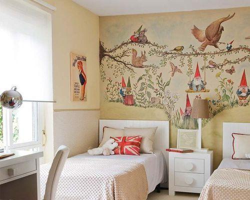 Изменяем интерьер детской - художественная роспись стен