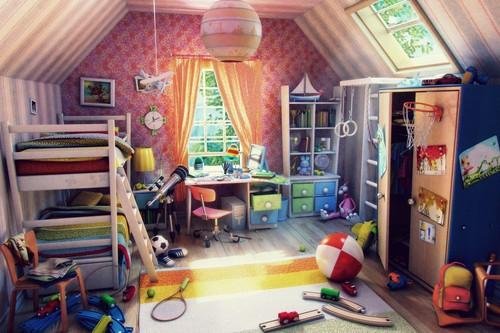 Как сделать детскую комнату яркой и удобной