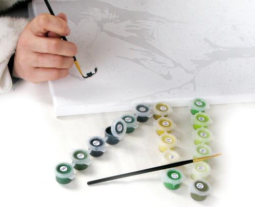 Как раскрашивать картины по номерам