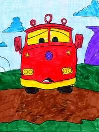 конкурс детского рисунока: 4 года 2 месяца Электроугли