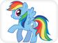 Раскраска радуга дэш пони